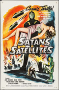"Movie Posters:Science Fiction, Satan's Satellites (Republic, 1958). One Sheet (27"" X 41""). Science Fiction.. ..."