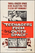 """Movie Posters:Science Fiction, Teenagers from Outer Space (Warner Brothers, 1959). One Sheet (27""""X 41""""). Science Fiction.. ..."""