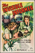 """Movie Posters:Crime, The Invisible Informer (Republic, 1946). One Sheet (27"""" X 41"""").Crime.. ..."""