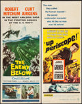 "Movie Posters:War, The Enemy Below & Others Lot (20th Century Fox, 1957). Inserts(4) (14"" X 36""). War.. ... (Total: 4 Items)"
