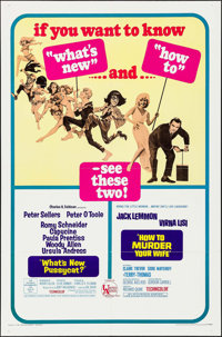 """What's New, Pussycat?/How to Murder Your Wife Combo & Other Lot(United Artists, 1967). One Sheets (2) (27""""..."""