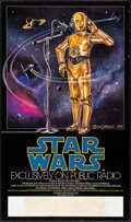 "Movie Posters:Science Fiction, Star Wars (20th Century Fox, 1981). NPR Poster (17"" X 29""). ScienceFiction.. ..."
