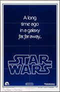 "Movie Posters:Science Fiction, Star Wars (20th Century Fox, 1977). Autographed One Sheet (27"" X41"") Style B Teaser. Science Fiction.. ..."