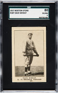 Baseball Cards:Singles (Pre-1930), 1917 Boston Store Zach Wheat #187 SGC 80 EX/NM 6 - Pop Two, NoneHigher. ...