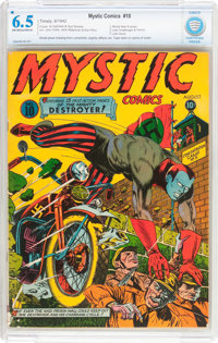 Mystic Comics #10 (Timely, 1942) CGC FN+ 6.5 Off-white to white pages