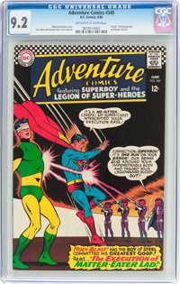 Adventure Comics #345 (DC, 1966) CGC NM- 9.2 Off-white to white pages