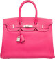 Hermes Limited Edition Candy Collection 35cm Rose Tyrien & Rubis Epsom Leather Birkin Bag with Palladium Hardwar...