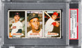 Baseball Cards:Singles (1960-1969), 1963 Bazooka (Uncut Panel) Roberto Clemente #13-15 PSA Mint 9 - Only One Higher....