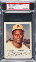 Baseball Cards:Singles (1970-Now), 1971 Pittsburgh Pirate Autograph Cards Roberto Clemente #21 (YellowCap) PSA VG-EX 4....