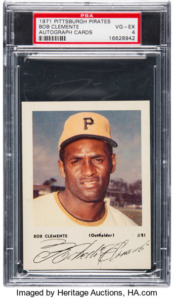 1971 Pittsburgh Pirate Autograph Cards Roberto Clemente 21 Yellow