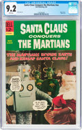 Silver Age (1956-1969):Science Fiction, Movie Classics: Santa Claus Conquers the Martians #nn (Dell, 1966)CGC NM- 9.2 White pages....