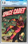 Golden Age (1938-1955):Science Fiction, Tom Corbett Space Cadet #9 (Dell, 1954) CGC VF- 7.5 Off-white towhite pages....