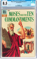 Silver Age (1956-1969):Miscellaneous, Dell Giant Comics: Moses and the Ten Commandments #1 (Dell, 1957)CGC VF+ 8.5 Off-white to white pages....