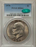 Eisenhower Dollars, 1978 $1 MS66+ PCGS. CAC. PCGS Population: (470/7 and 24/0+). NGC Census: (183/5 and 0/0+). Mintage 25,702,000. ...