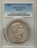 Coins of Hawaii , 1883 $1 Hawaii Dollar XF45 PCGS. PCGS Population: (200/297). NGCCensus: (77/229). Mintage 46,348. ...