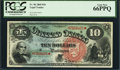 Large Size:Legal Tender Notes, Fr. 96 $10 1869 Legal Tender PCGS Gem New 66PPQ.. ...