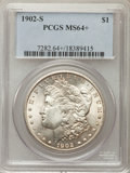 Morgan Dollars: , 1902-S $1 MS64+ PCGS. PCGS Population: (1524/409 and 71/19+). NGC Census: (820/116 and 13/1+). CDN: $725 Whsle. Bid for pro...