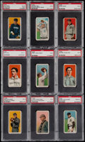 Baseball Cards:Lots, 1909-11 T206 Sovereign PSA Graded Collection (9)....