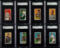 Baseball Cards:Lots, 1909-11 T206 Piedmont/Sweet Caporal SGC Graded Collection (8)....