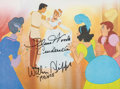 Animation Art:Photograph, Cinderella and Prince Charming Signed Print (Walt Disney, c. 1990s)...