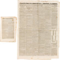 Miscellaneous:Newspaper, [Stephen F. Austin]. Two Newspapers:... (Total: 2 Items)