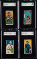 Baseball Cards:Lots, 1909-11 T206 Piedmont/Sweet Caporal SGC Graded Collection (4)....