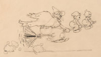 Babes in the Woods The Witch with Hansel and Gretel Animation Drawing (Walt Disney, 1932)
