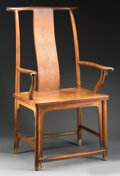 Other, A Chinese Huanghuali Official's Hat Armchair, Qing Dynasty, 18th-19th century. 45-3/4 h x 26 w x 20-1/2 d inches (116.2 x 66...