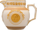 Political:3D & Other Display (pre-1896), Ulysses S. Grant: 1871 Indian Peace Medal Pitcher by Copeland....