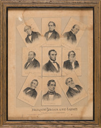 Abraham Lincoln: Rare Lithograph of President and Cabinet