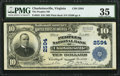 National Bank Notes:Virginia, Charlottesville, VA - $10 1902 Plain Back Fr. 634 The Peoples NBCh. # 2594. ...