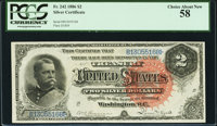 Fr. 242 $2 1886 Silver Certificate PCGS Choice About New 58