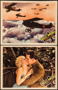 """Movie Posters:War, Hell's Angels (United Artists, R-1937). Lobby Cards (2) (11"""" X14""""). War.. ... (Total: 2 Items)"""