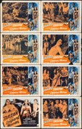 """Movie Posters:Adventure, Tarzan and the Leopard Woman (RKO, R-1950). Lobby Card Set of 8(11"""" X 14""""). Adventure.. ... (Total: 8 Items)"""
