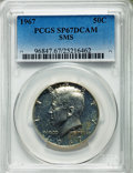 SMS Kennedy Half Dollars, 1967 50C SMS 67 Deep Cameo PCGS. PCGS Population: (92/17). NGCCensus: (183/20). ...