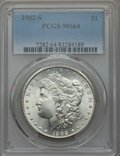 Morgan Dollars: , 1902-S $1 MS64 PCGS. PCGS Population: (1524/409). NGC Census: (820/116). CDN: $725 Whsle. Bid for problem-free NGC/PCGS MS6...