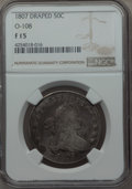 Early Half Dollars, 1807 50C Draped Bust, O-108, T-1, R.3, Fine 15 NGC. NGC Census:(3/9). PCGS Population: (2/5). ...