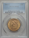Liberty Eagles: , 1893-S $10 MS62 PCGS. PCGS Population: (201/70). NGC Census: (157/22). CDN: $900 Whsle. Bid for problem-free NGC/PCGS MS62....