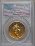 9-11-01 WTC Ground Zero Recovery, 1998 Canada $50 One-Ounce Gold Maple Leaf, Gem Uncirculated PCGS. From The Siegel Col...