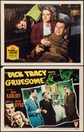 """Movie Posters:Crime, Dick Tracy Meets Gruesome & Other Lot (RKO, 1947). Lobby Cards(2) (11"""" X 14""""). Crime.. ... (Total: 2 Items)"""