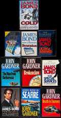 Movie Posters:James Bond, James Bond Book Lot by John Gardner (Various, 1981-1996). HardcoverBooks (10) 3 Autographed (Multiple Pages, Various Sizes)... (Total:10 Items)