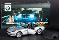 """The World is Not Enough (Kyosho, 1999). Unused Die-Cast 1:18 Scale Model BMW Z8 in Original Packaging (6.5"""" X 12.5&..."""
