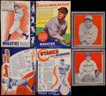 Baseball Cards:Lots, 1935-39 Wheaties Series Hand Cut Collection (51)....