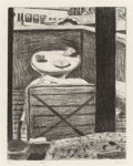 Prints:Contemporary, Richard Diebenkorn (1922-1993). #31 (looking out at deck ofDiebenkorn's residence), from 41 Etchings/Drypoints,196...
