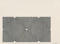 Prints:Contemporary, Frank Stella (b. 1936). Casa Cornu, from the Aluminumseries, 1970. Lithograph and screenprint on Arjomari paper. 9 ...