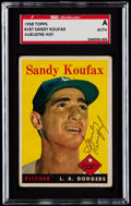 Autographs:Sports Cards, Signed 1958 Topps Sandy Koufax #187 SGC Authentic. ...