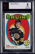 Hockey Cards:Singles (1970-Now), 1971 Topps Phil Esposito #20 BVG NM-MT 8....