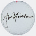 Golf Collectibles:Autographs, Jack Nicklaus Signed Golf Ball...