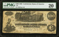 Confederate Notes:1862 Issues, T39 $100 1862 PF-13 Cr. 294.. ...