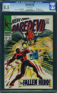 Daredevil #40 (Marvel, 1968) CGC VF+ 8.5 Off-white pages